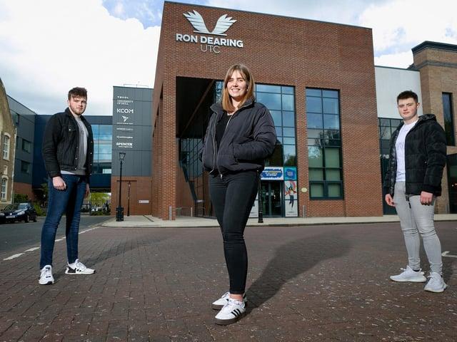 Will, Scarlett and Joshua attend Ron Dearing UTC in Hull