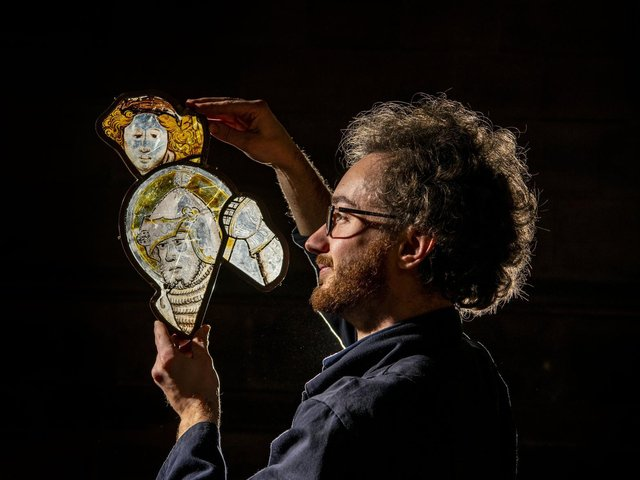 Jonathan Cooke is one of Yorkshire's most esteemed stained glass conservators