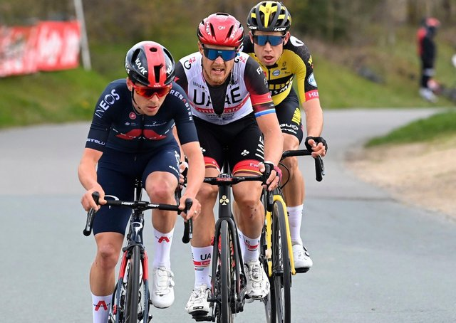 Rising star: Leeds rider Tom Pidcock, left, wins in Belgium earlier this year. Photo VK/PN/Cor Vos/SWpix.com © 2021