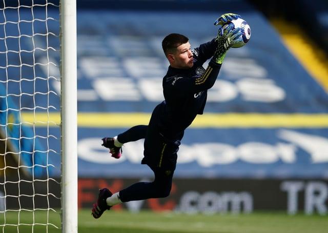 Safe hands: Leeds United goalkeeper Illan Meslier.