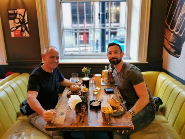 Jordan Phillip (right) died by suicide aged 34 in December 2019 after a struggle with his mental health and his father Steve (left) has shared the impact of his death.