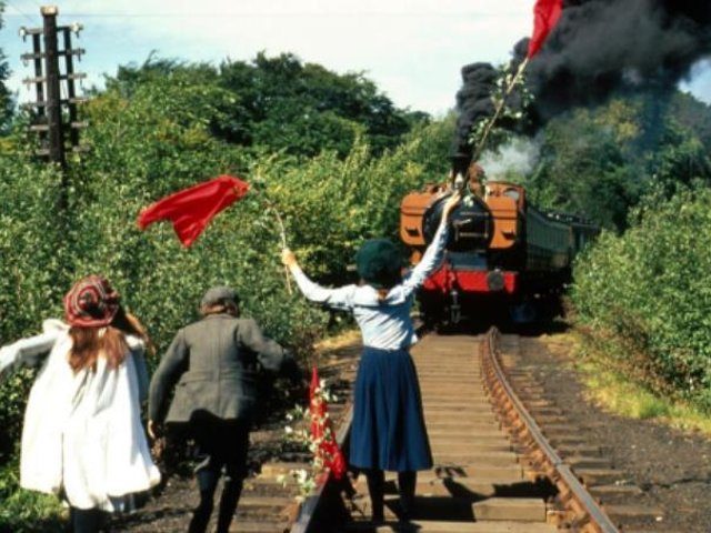 A scene from The Railway Children, released in 1970, that was filmed on Keighley & Worth Valley Railway