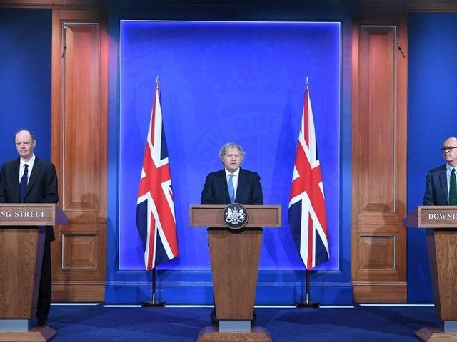 The Downing Street press conference.