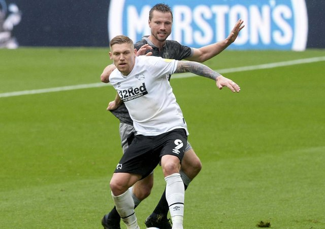 Martyn Waghorn: His Derby survived at the expense of Wednesday but could still go down. (Picture: Steve Ellis)