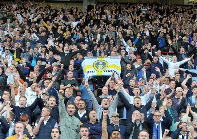 Limited numbers: Some Leeds United (above) and Sheffield United fans will be allowed into Elland Road and Bramall Lane, respectively. Picture: Tony Johnson
