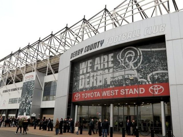 Pride Park, home of Derby County. Picture: PA.