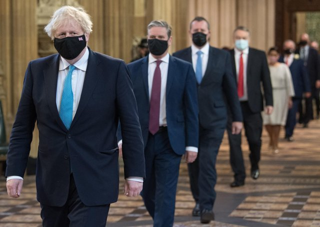Boris Johnson at the State Opening of Parliament,