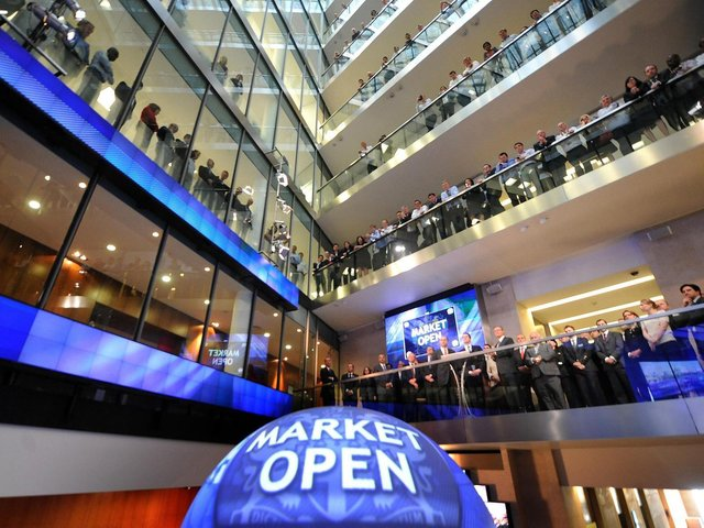 Photo of the London Stock Exchange.