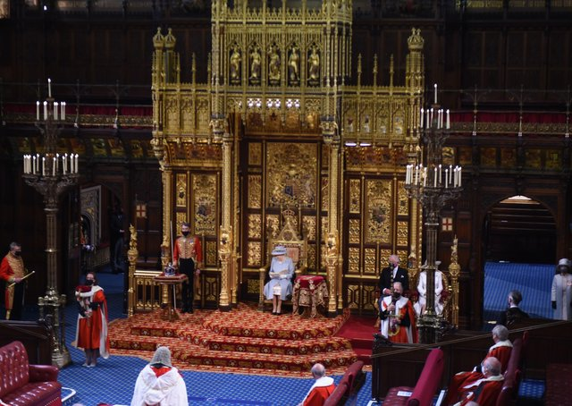 The Queen has presided over a scaled-back State Opening of Parliament.