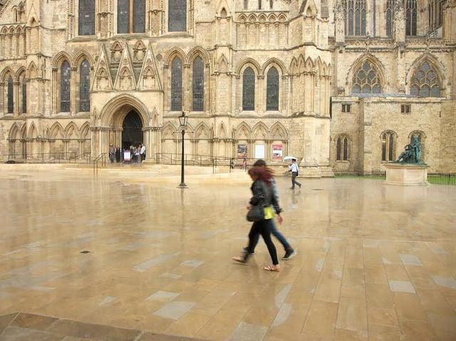 Marshalls has paved many UK landmarks including York Minster and London's Trafalgar Square