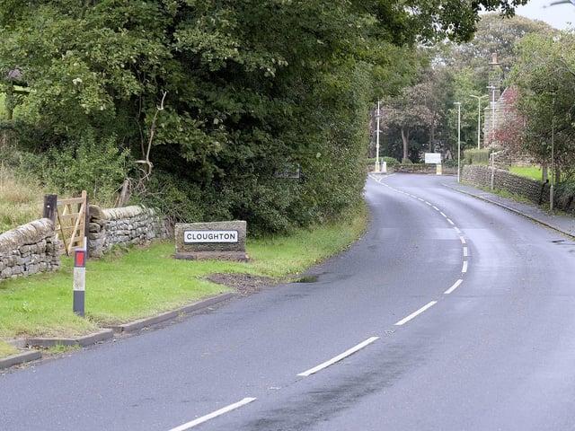 The main road into Clougton