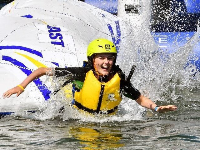 The AquaPark reopens on Monday.