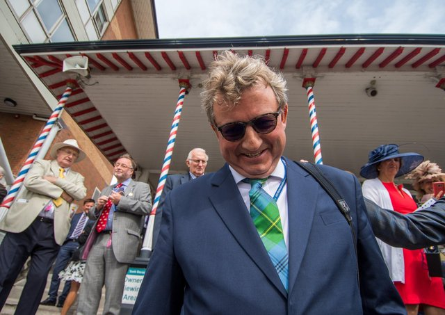 This was Mark Johnston at York 2018 after he became Britain's most successful trainer. Photo: James Hardisty.