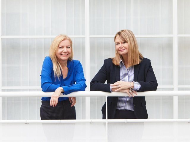 Louise Hirst (on the right) with Clare Coidan  of  Prime Residential