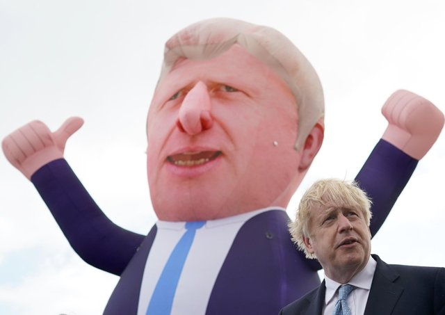 Boris Johnson showed the cheeky side to his character when visiting Hartlepool after his party's by-election win.