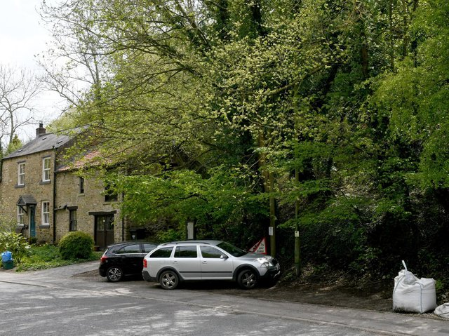 The car park beside the old Good Intent pub, now Dr Robert Brown's home