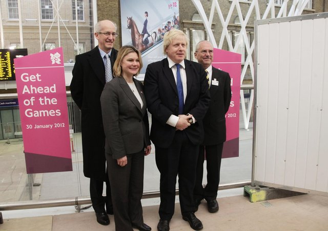 Justine Greening with Boris Johnson when they were Transport Secretary and Mayor of London respectively.