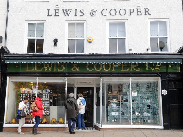Lewis & Cooper's Northallerton shop has been open since 1899. Picture: Gerard Binks.