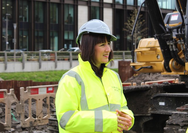Shadow Chancellor Rachel Reeves during a constituency visit to Kirkstall Forge.