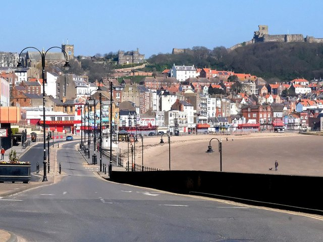 Pictured Scarborough's South Bay. On Saturday a beach clean will begin at 4pm as part of the Million Mile Beach Clean campaign.
