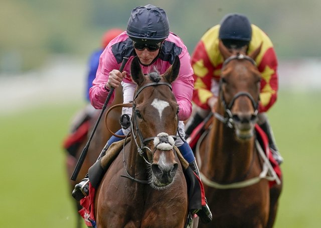 Spanish Mission ridden by William Buick go on to win The Matchbook Yorkshire Cup Stakes during day three of the Dante Festival at York Racecourse.