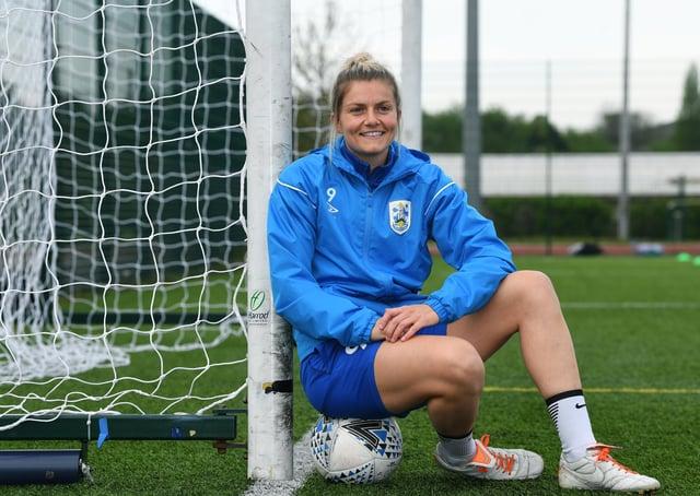 On the ball: Huddersfield Town Women's Sarah Danby. Picture : Jonathan Gawthorpe