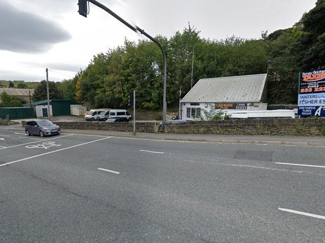 A female pedestrian has died after being hit by a car on the A642 Wakefield Road in Huddersfield. photo: Google