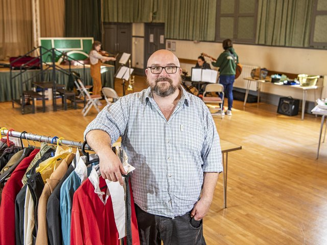 Producer Pete Toon at the Mikron Theatre Co based in Marsden Mechanics Hall.