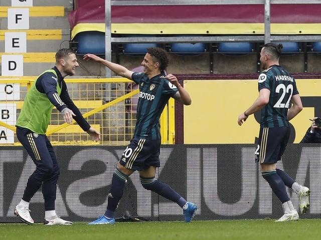 GOAL: Rodrigo celebrates his second strike with substitute Liam Cooper