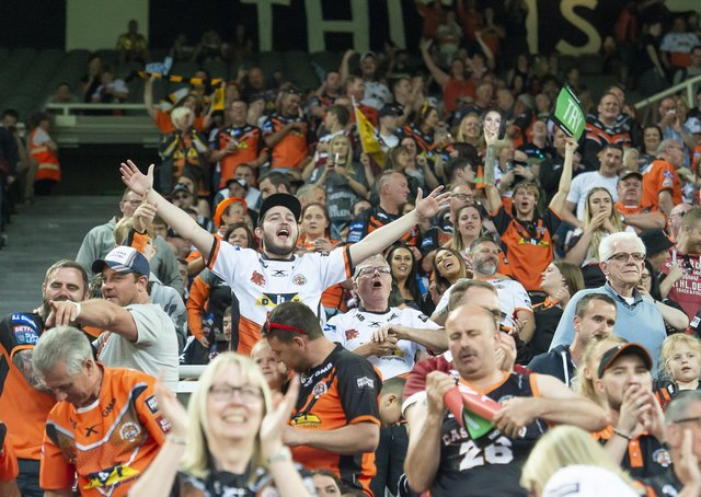 Fans will make a welcome return to live sporting events from today. Picture: SWPix.com