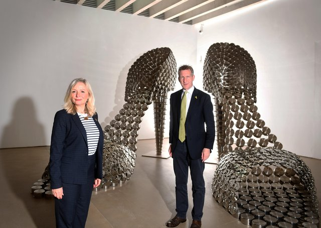 Mayors Tracy Brabin and Dan Jarvis during a meeting at Yorkshire Sculpture Park.