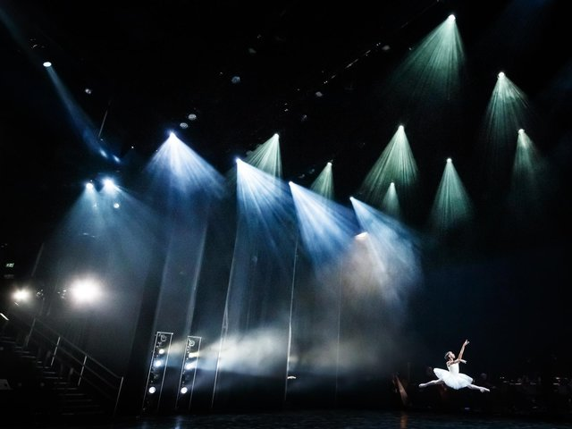 File photo of a ballerina during a dress rehearsal at Leeds Playhouse,