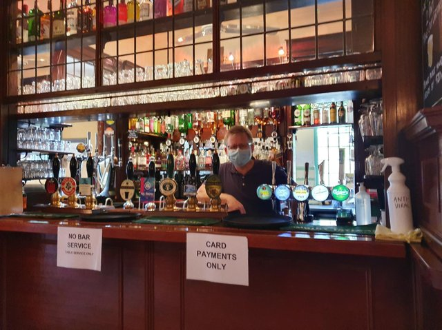Pub landlord and campaigner Paul Crossman opened the doors of the Swan in York yesterday