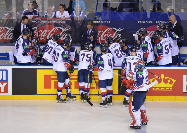 IN GOOD HANDS: Pete Russell, centre, will offer support and guidance to assistants Adam Keefe, far left, and Corey Neilson far right, who will be with the GB players in Latvia. Picture: Dean Woolley