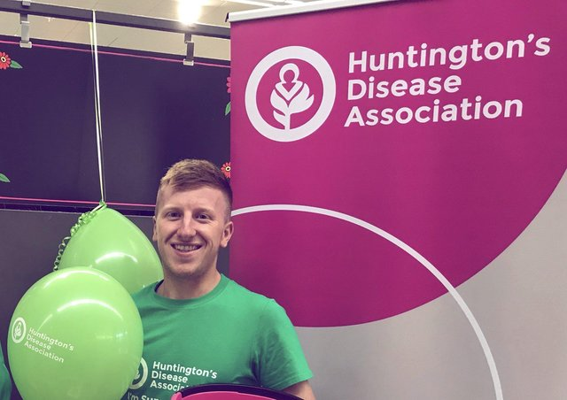 Josh Beasley has tested positive for Huntington's disease that killed his mum