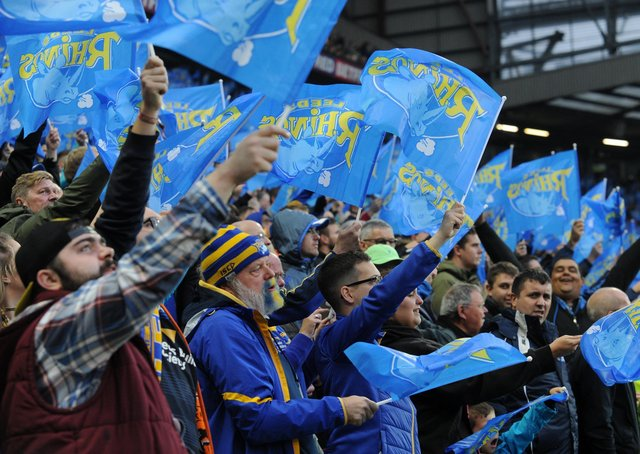 On the way back: Leeds Rhinos supporters will finally be allowed back into Headingley for Sunday's night's Super League encounter against Hull FC. Picture: Bruce rollinson