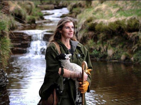 Amanda Owen on her farm at Keld in North Yorkshire. (Simon Hulme).
