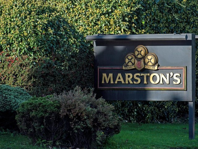 Library image of Marston's Brewery in Burton upon Trent, Staffordshire.