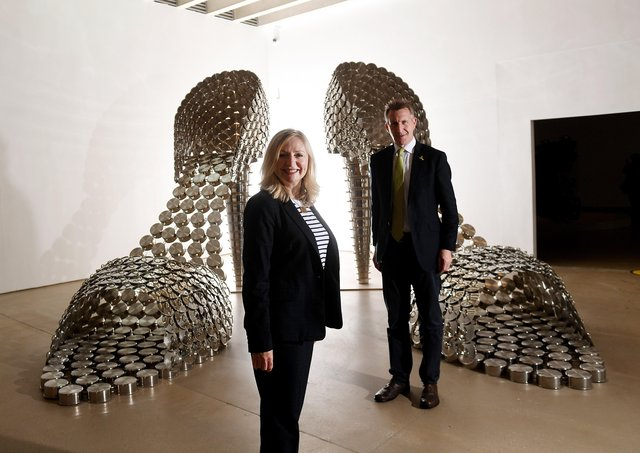 Tracy Brabin, the new West Yorkshire Mayor, and Dan Jarvis, the Sheffield City Region Mayor, at Yorkshire Sculpture Park earlier this week. Photo: Simon Hulme.