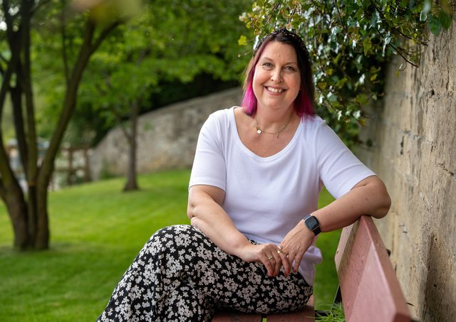 Midwife Ruth Clark who had a liver transplant in August. Picture Bruce Rollinson