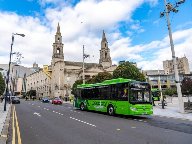 The first-ever zero emission bus fleet for West Yorkshire was unveiled in Leeds last year. (YPN).