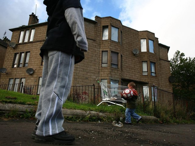 Child poverty in Bradford rose by 7.7 per cent, with 37.7 per cent of children living below the breadline. The situation is similar in Leeds with 35.3 per cent of children in poverty, a five-year increase of 6.7 per cent. Stock photo: Getty