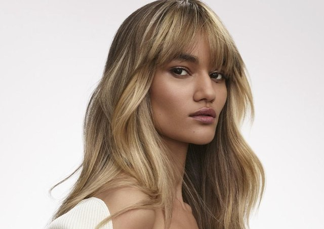 An example of French balayage. Picture by L'Oreal Professional.