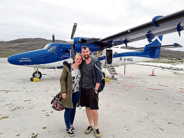Jamie Forde surprised his girlfriend with an incredible proposal. Pic: CASCADE NEWS LTD