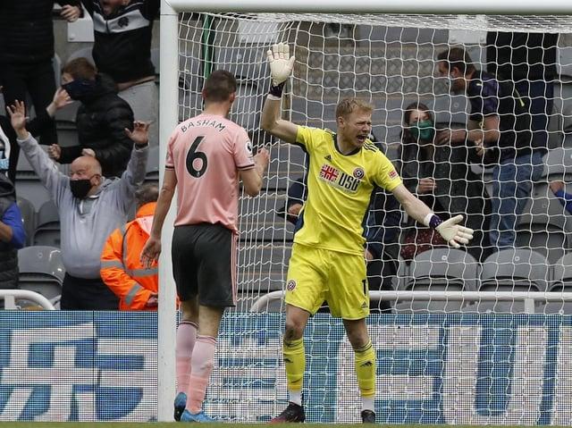 OUTSTANDING: Sheffield United goalkeeper Aaron Ramsdale