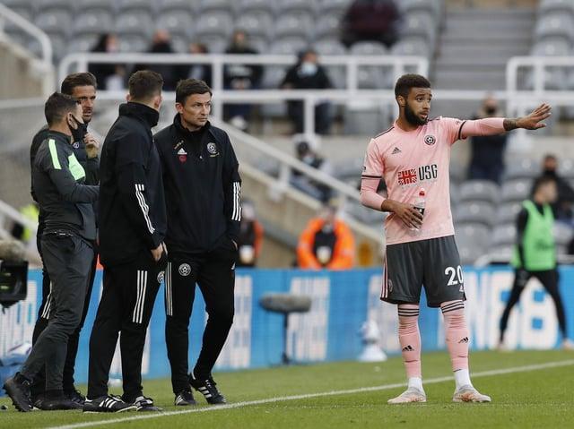 FINE MARGINS: Sheffield United interim manager Paul Heckingbottom looks on at St James's Park