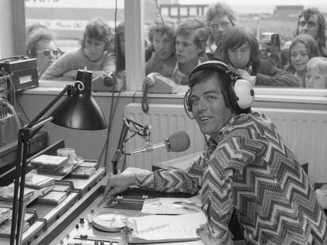 DJ Tony Blackburn in Sunderland in 1973.
