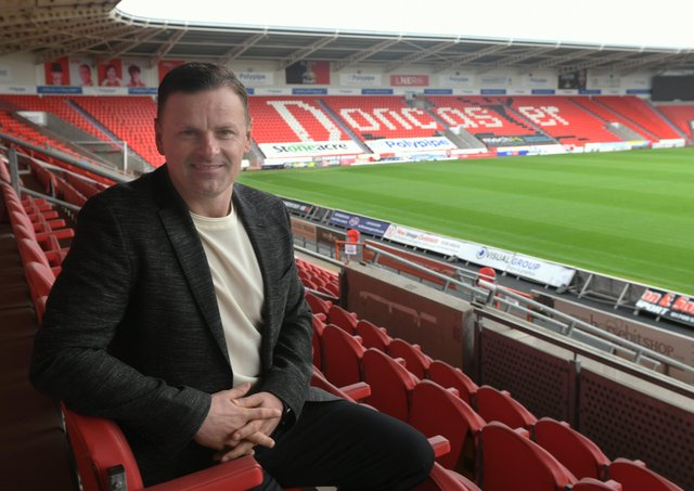 The new Doncaster Rovers manager Richie Wellens at the Keepmoat Stadium. Picture: Gary Longbottom
