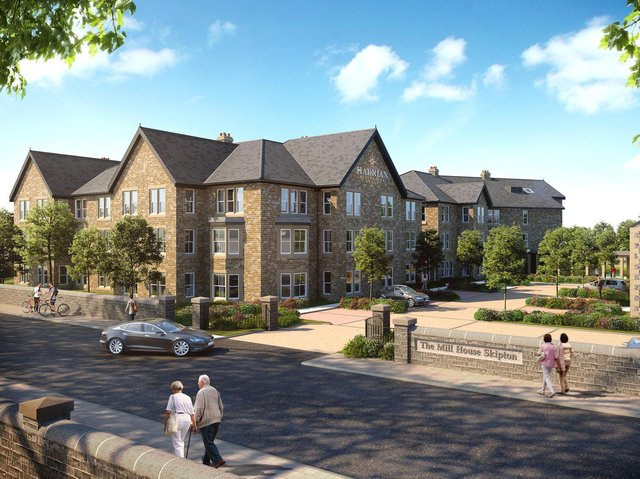 Artist's impression of Mill House, which is to be built in Skipton.