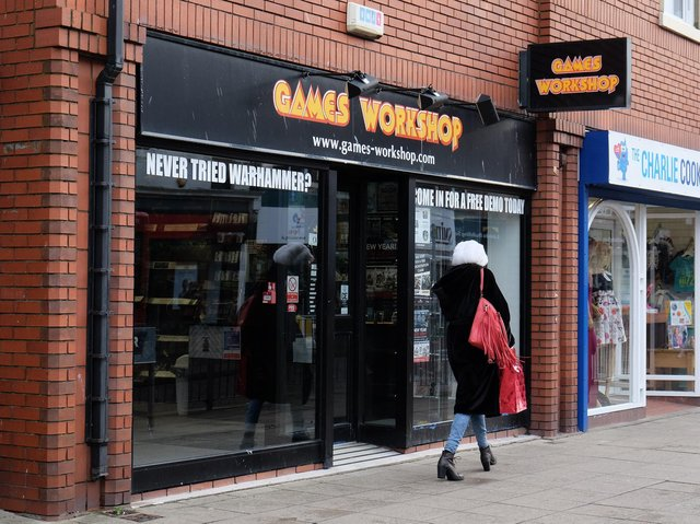Library image of a Games Workshop store